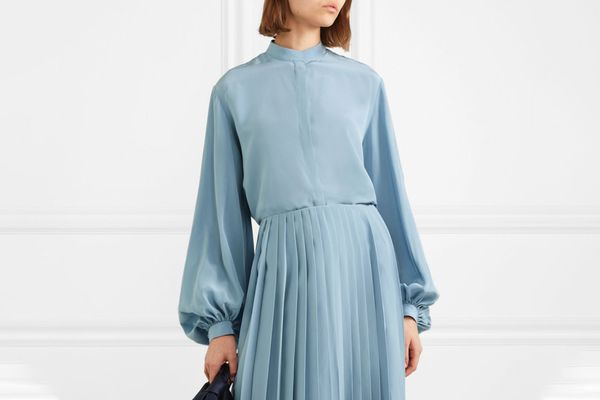The Row Vara silk crepe de chine blouse