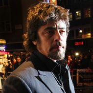 LONDON, ENGLAND - OCTOBER 18:  (UK TABLOID NEWSPAPERS OUT) Benicio Del Toro attends the premiere of Miral at the 54th BFI London Film Festival held at The Vue Leicester Square on October 18, 2010 in London, England.  (Photo by Fergus McDonald/Getty Images) *** Local Caption *** Benicio Del Toro