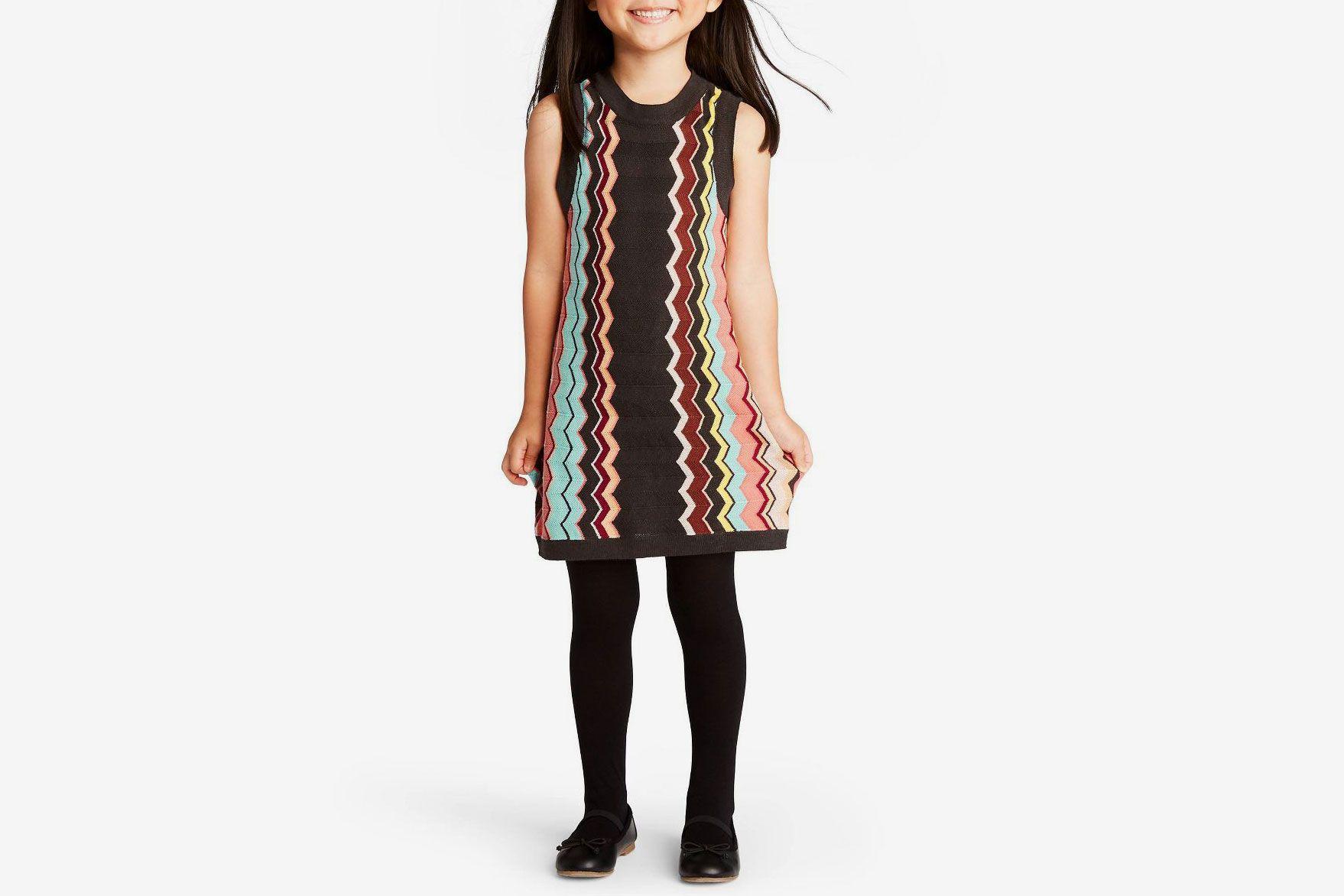 Missoni for Target Toddler Girls' Colore Zig Zag Sleeveless Crewneck Sweater Dress