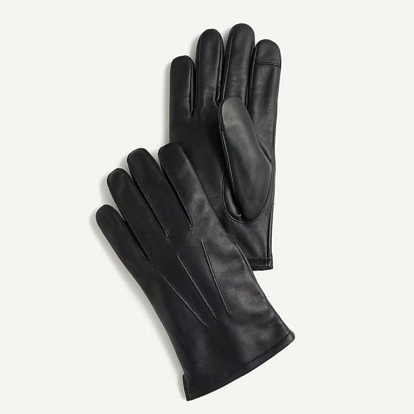 J.Crew Leather Gloves with Wool-Cashmere Lining