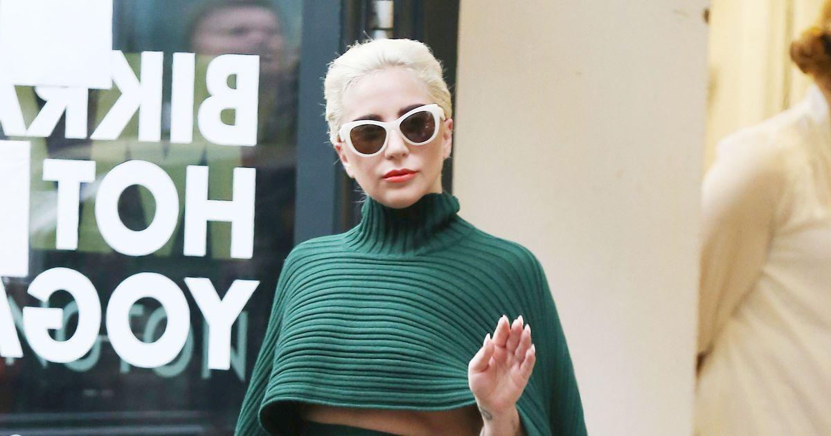 a15d6332f5562 Lady Gaga Wore a Ferragamo Skirt to Yoga