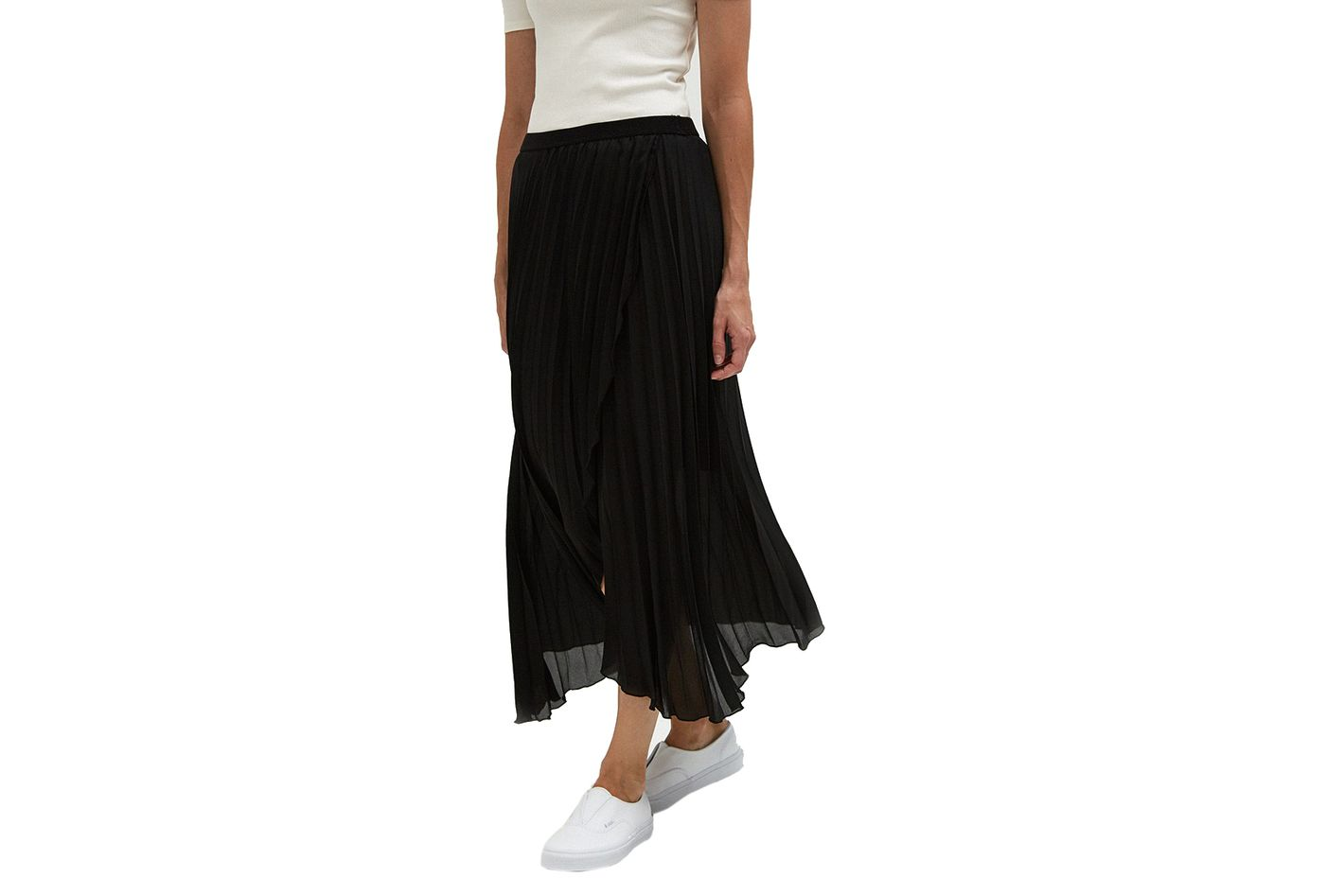Farrow Pleated Crossover Skirt