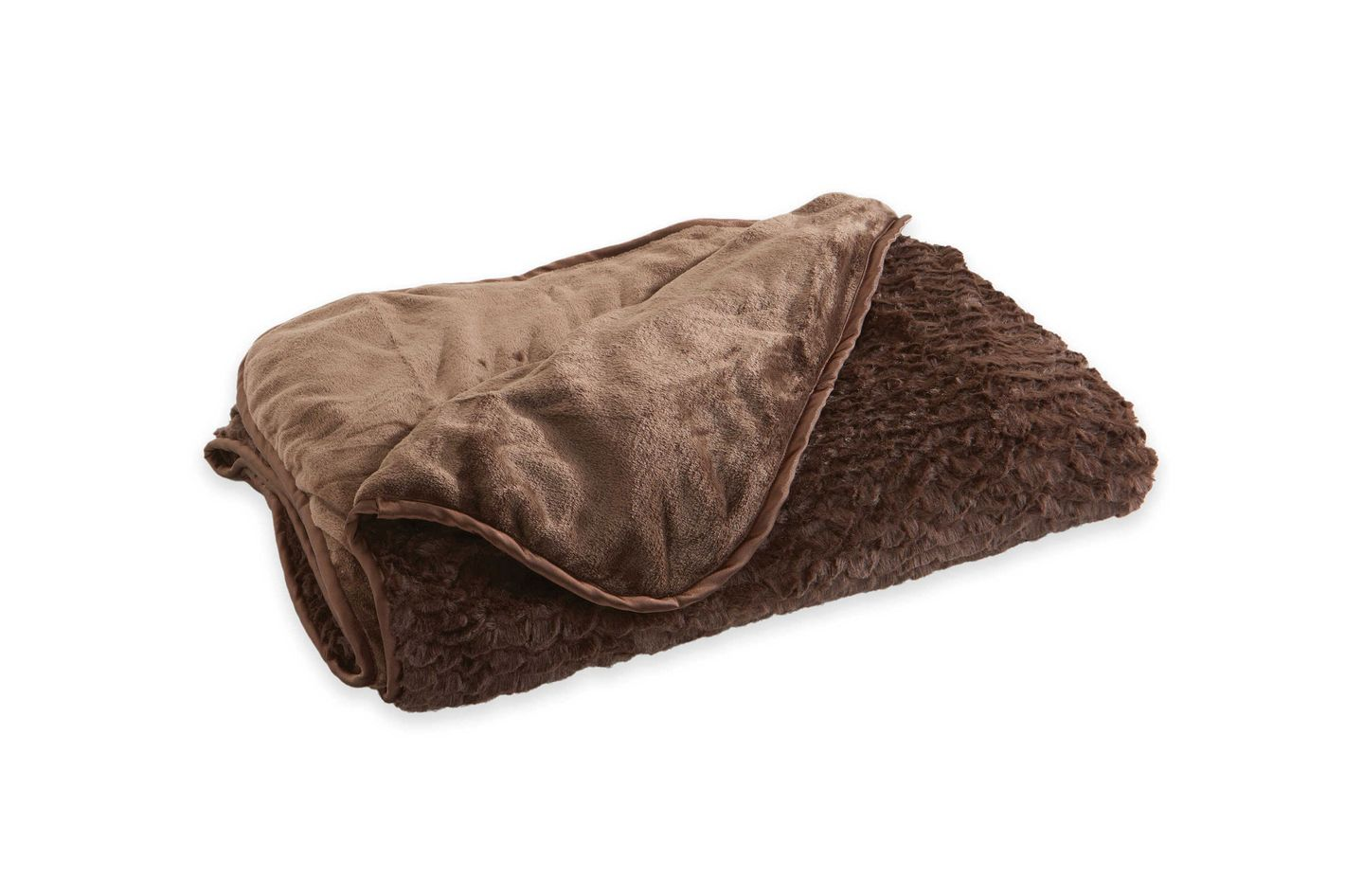 Brookstone® Reversible Faux Fur N-A-P® Throw Blanket in Chocolate