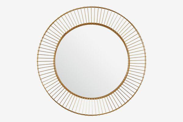 Rivet Modern Round Iron Circle Metal Mirror
