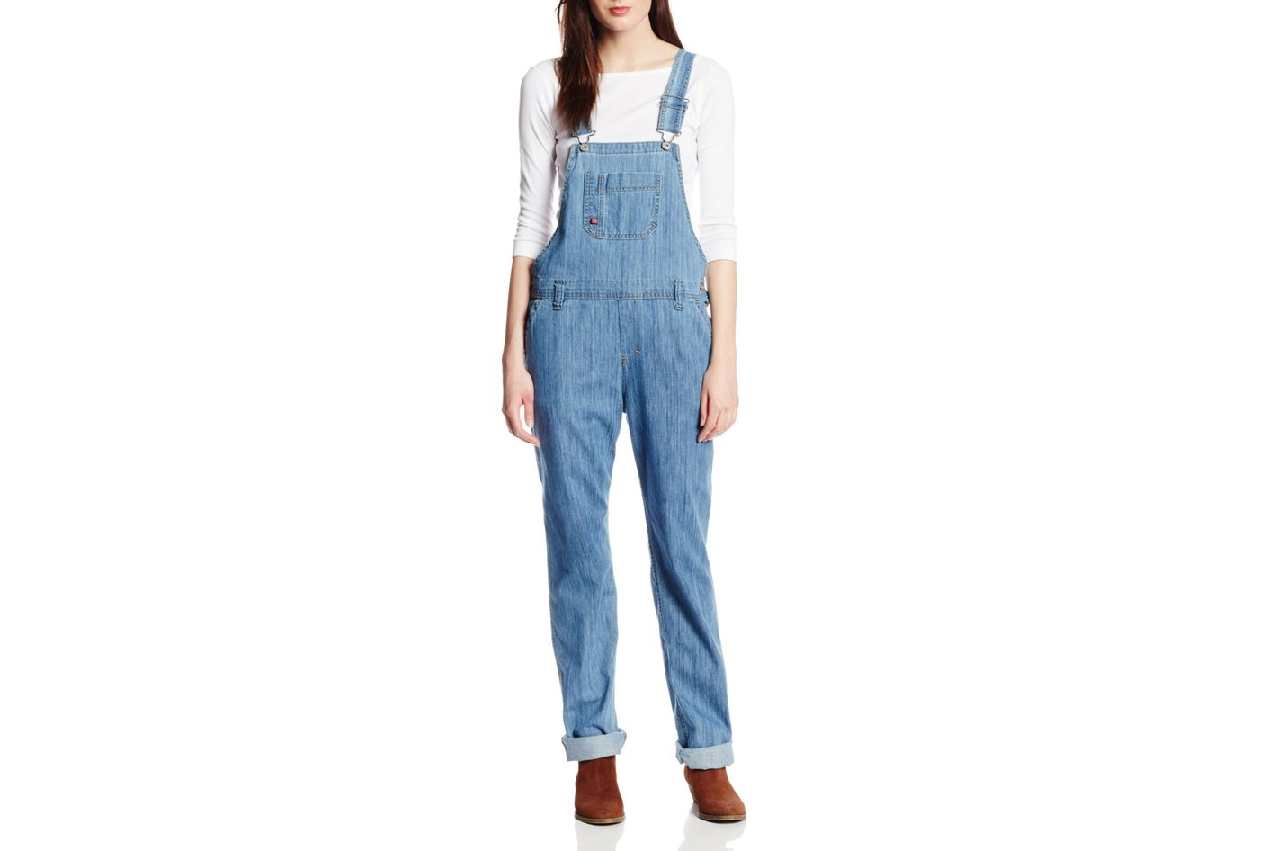 f80253cdb5 Dickies Women's Denim Bib Overall at Amazon