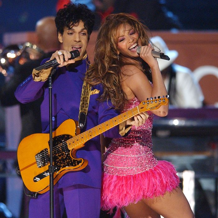 Prince and Baby Bey at the 2004 Grammys. Michael Caulfield Archive / Contributor