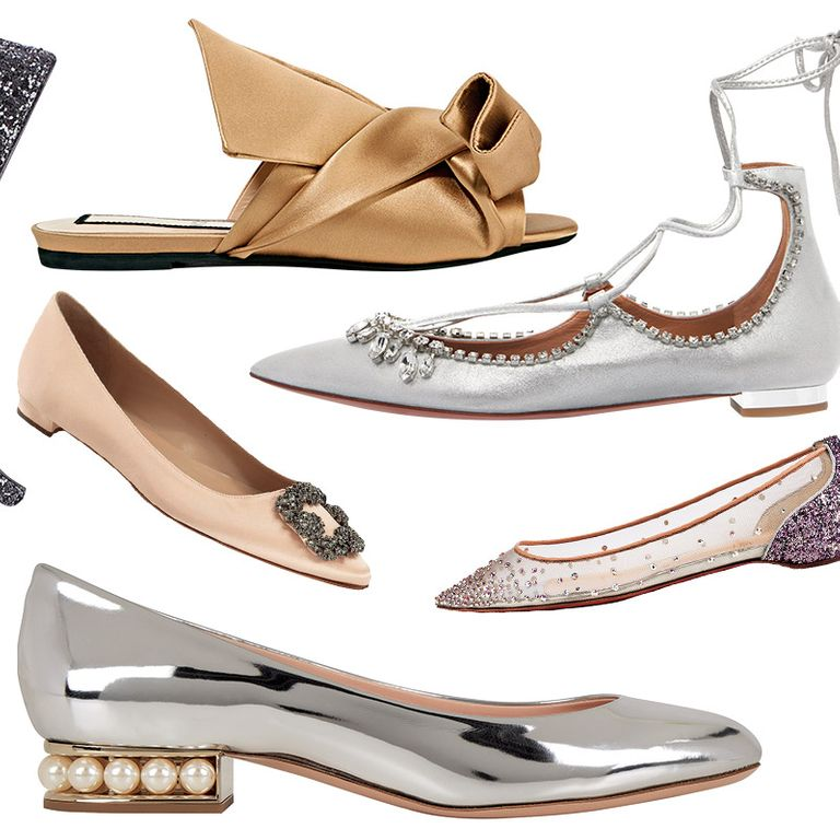 6f145a95c9 These Flats Are Fancy Enough to Replace Your Wedding HeelsAs pretty as  stilettos, but less tripping down the aisle.