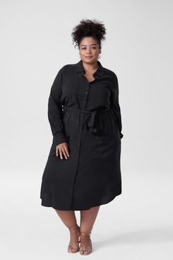 Universal Standard Michelle Cupro Shirt Dress