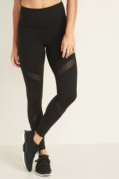 Old Navy High-Waisted Elevate Mesh-Trim Compression Leggings
