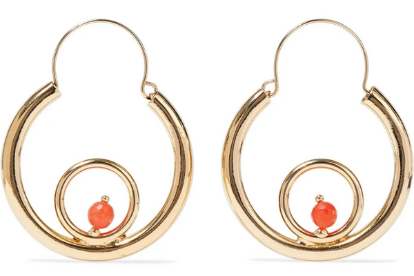 Rosantica Passato Gold-Tone Quartz Hoop Earrings