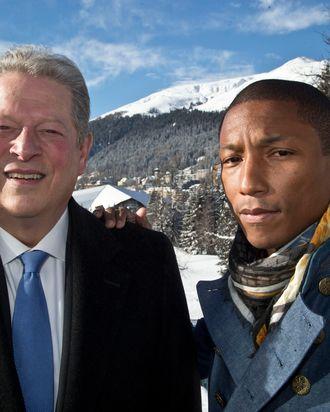 Al Gore and Pharrell Williams in Davos