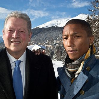 Al Gore and Pharrell Williams in Davos