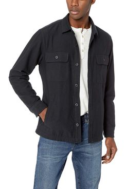 Amazon Brand - Goodthreads Men's Military Broken Twill Shirt Jacket in Black