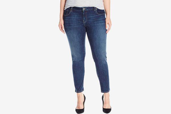 "22 24 26 28 Womens New Dark Blue Stretch Denim Jeans Ladies Plus Size 30/"" Leg"
