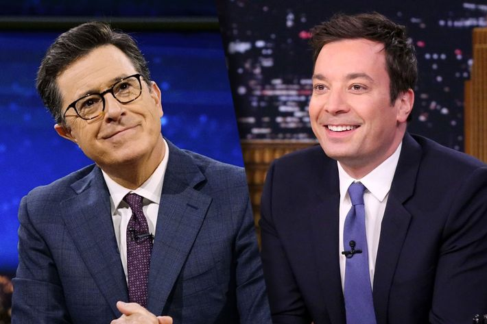 stephen colbert is close to dethroning fallon for the season