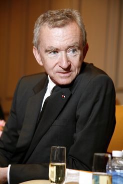 Bernard Arnault, CEO of Moet Hennessy Louis Vuitton (MHLV) is seen at the ground-breaking ceremony for LAvenue Shanghai, in Shanghai, Wednesday, May 20, 2009.