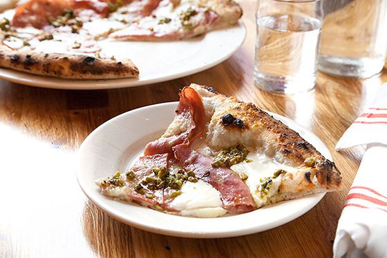 "<b>The Vetri</b>    <a href=""http://pitrucopizza.com/"">Krescendo</a>    <i>Brooklyn</i>  This is chef synergy: At <i>Iron Chef</i> regular Elizabeth Falkner's new Brooklyn pizza shop, she leaves one menu spot for another chef: Philly's Marc Vetri, who inspired this combination of mozzarella, mortadella, and pistachio pesto."