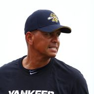 Alex Rodriguez of the New York Yankess warms up before his game for the Charleston RiverDogs at Joseph P. Riley Jr. Park on July 2, 2013 in Charleston, South Carolina.
