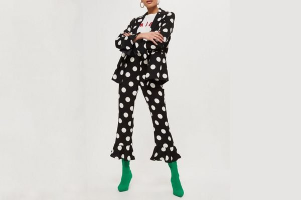 Spot Frill Jacket and Trousers Set