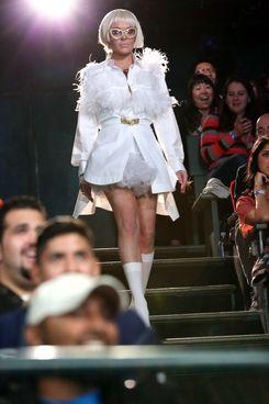 A blonde Lindsay Lohan.