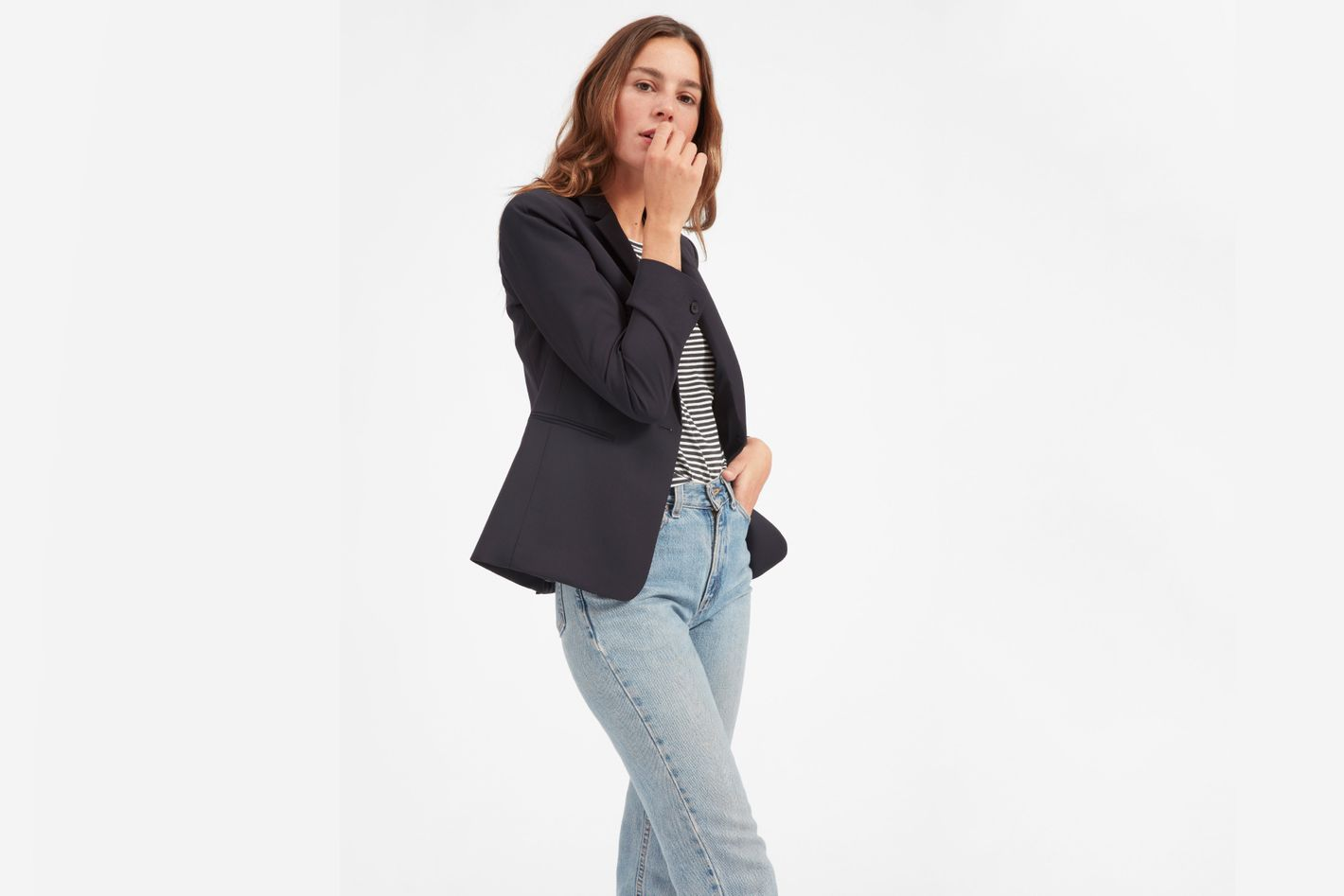 Everlane The Italian GoWeave Classic Blazer in Navy