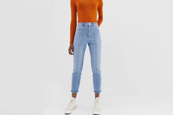 ASOS DESIGN Farleigh High Waisted Slim Mom Jeans