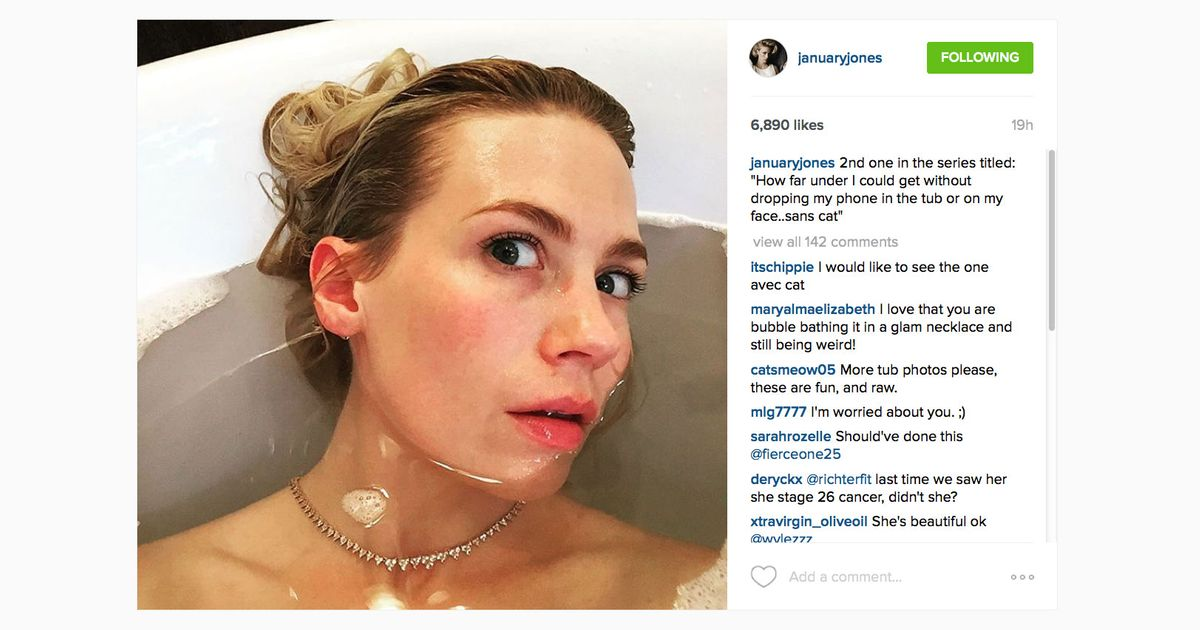 January Jones Continues to Be a Hero for the Ages January Jones Instagram