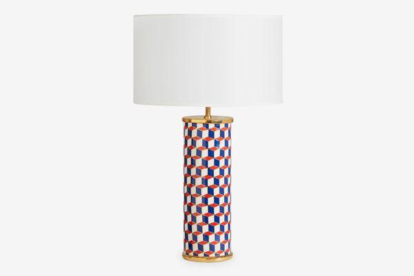 Jonathan Adler Carnaby Lamp, Navy/Red