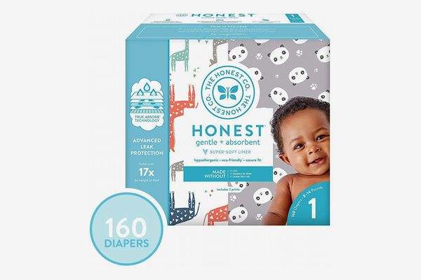The Honest Co. Diapers with TrueAbsorb Technology Size 1 (160 Count)
