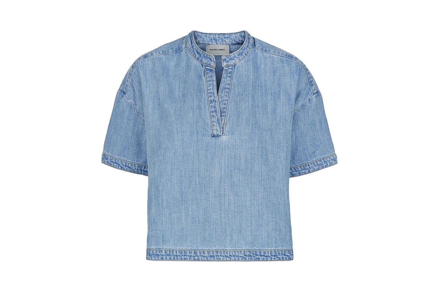 Rachel Comey Denim Loose Shirt Gabe Top