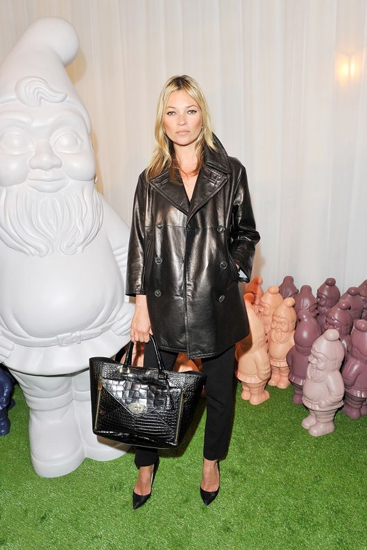 Model Kate Moss arrives at the Mulberry Spring Summer 2013 Show during London Fashion Week at Claridge's on September 18, 2012 in London, England.
