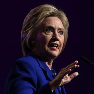 Hillary Clinton speaks during a Planned Parenthood Action Fund event June 10, 2016 in Washington, DC.