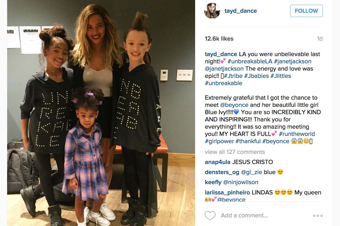 Beyoncé and Blue Ivy Wore Matching Shoes to a Janet Jackson
