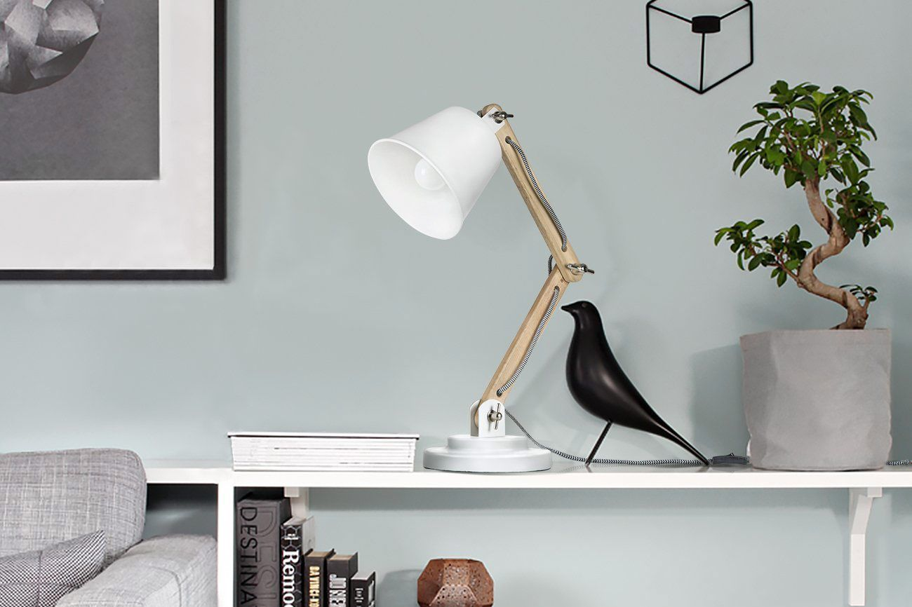 Tomons Natural Wood Desk Lamp