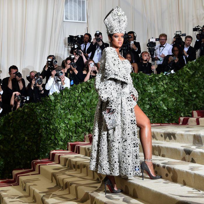 Rihanna at the 2018 Met Gala.