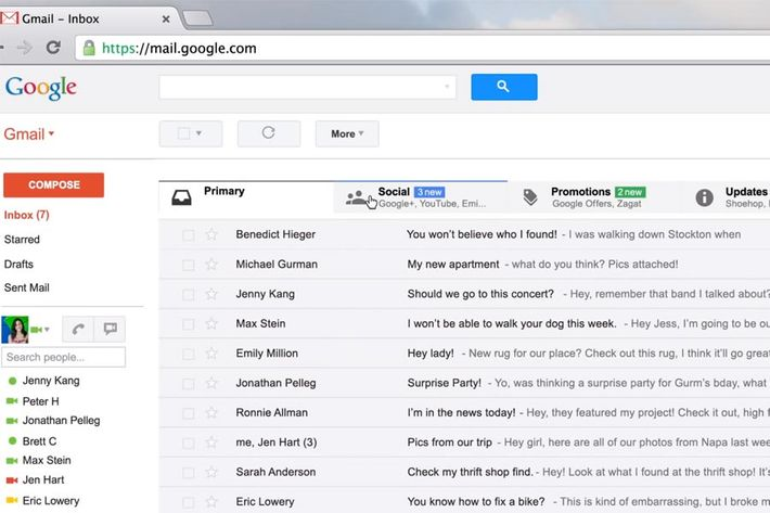 Gmail's new inbox.