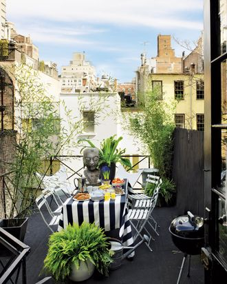 The terrace of Patrick Mele's one-bedroom Upper East Side apartment.