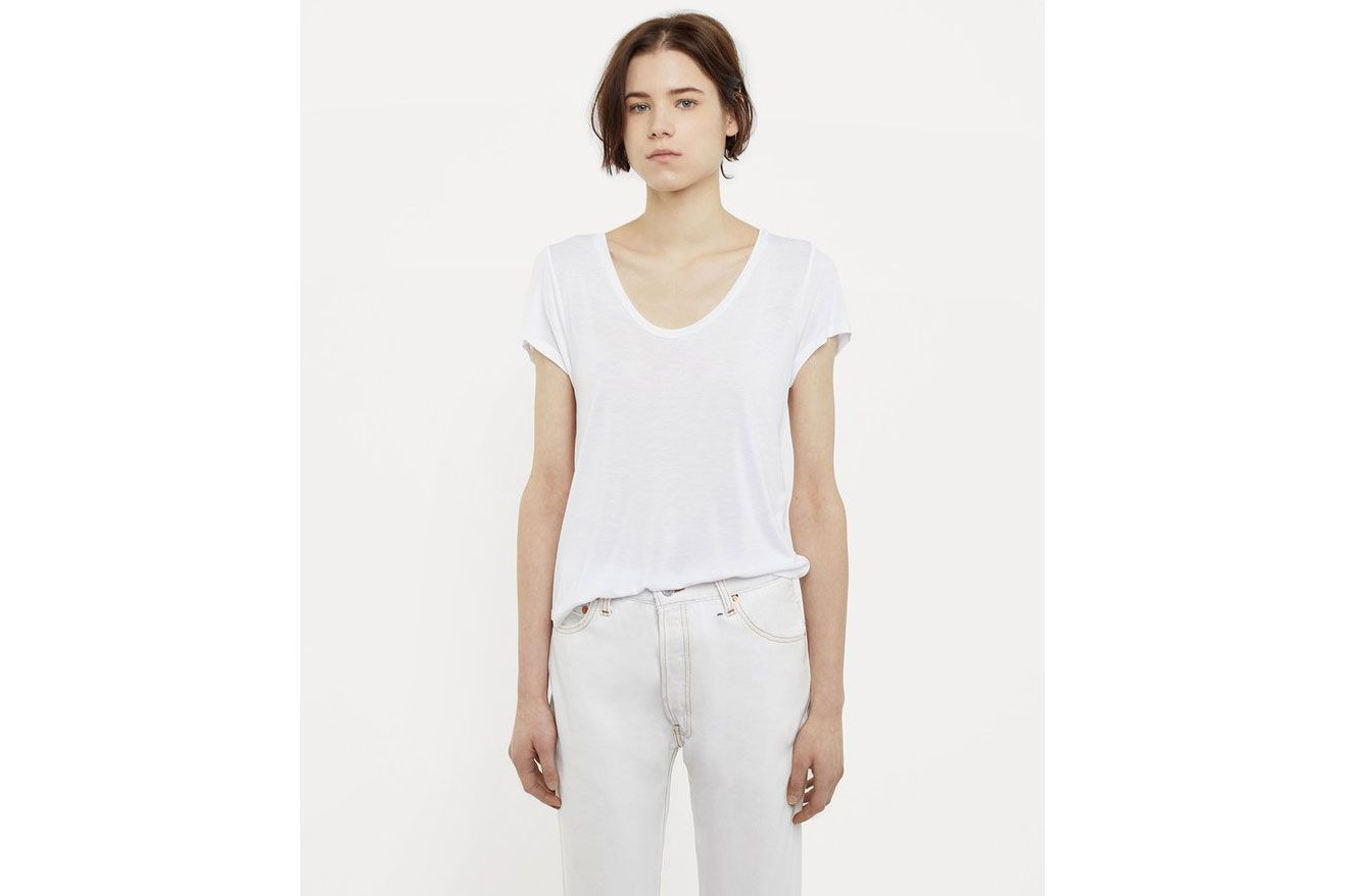 T By Alexander Wang Scoop Neck Tee