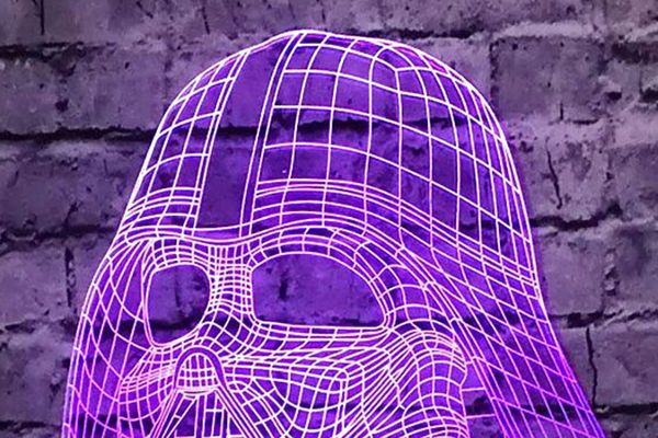 Holographic Darth Vader Lamp