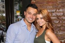 MLB player Nick Swisher and actress JoAnna Garcia attend the Yankees Unite for Tornado Relief benefit at Southern Hospitality on August 22, 2011 in New York City.