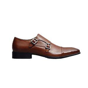 Men's Regal Bearing Leather Monk Strap Dress Shoe