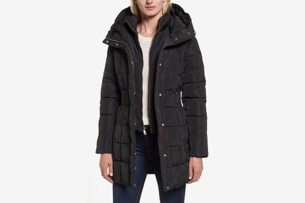 Cole Haan Hooded Down and Feather Jacket
