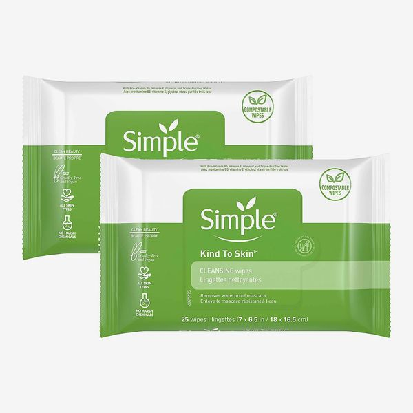 Simple Cleansing Facial Wipes, 2-Pack