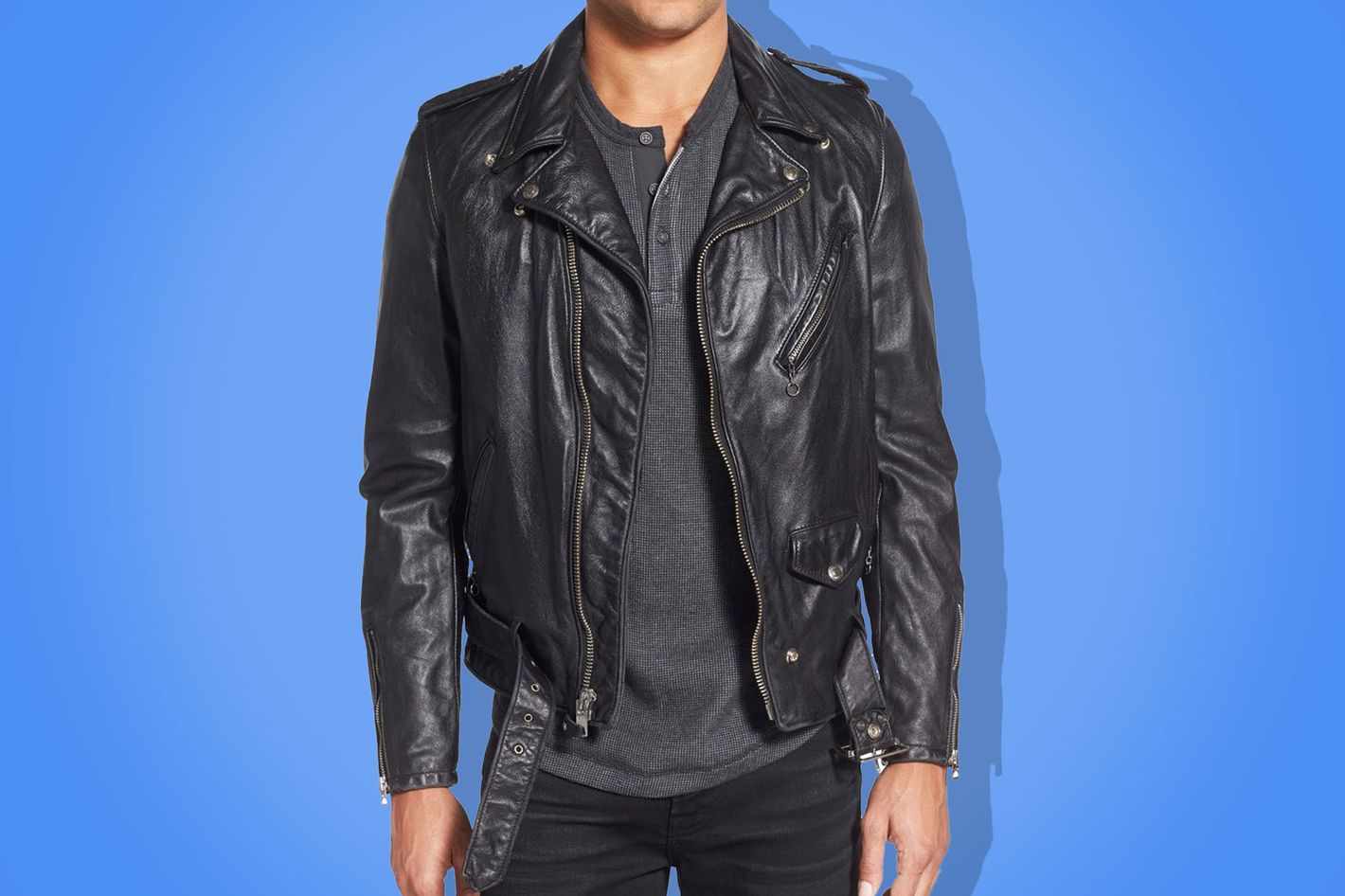 Best leather jacket for men is from Schott.