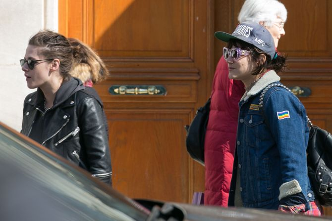 Kristen Stewart and Soko Sighting In Paris - March 17, 2016