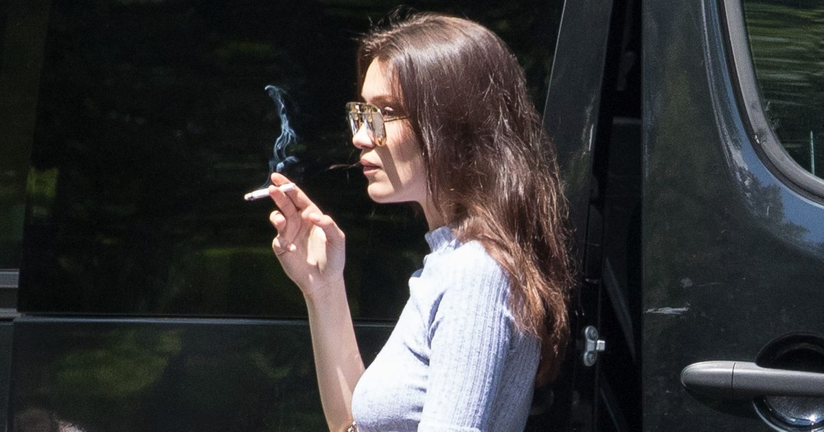 Bella Hadid Smokes A Cigarette Ponders The Meaning Of