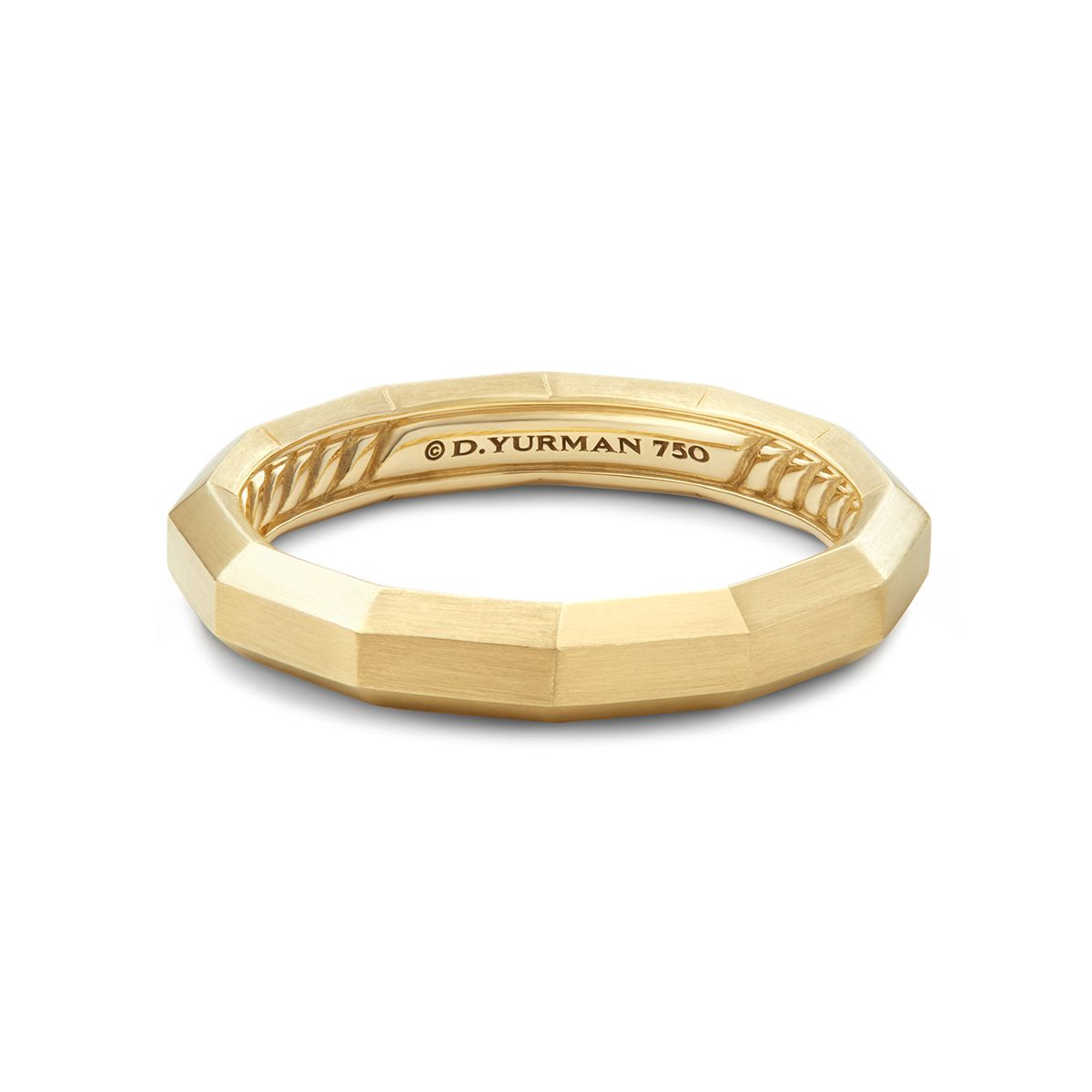 DY Delaunay Narrow Band Ring in 18K Gold