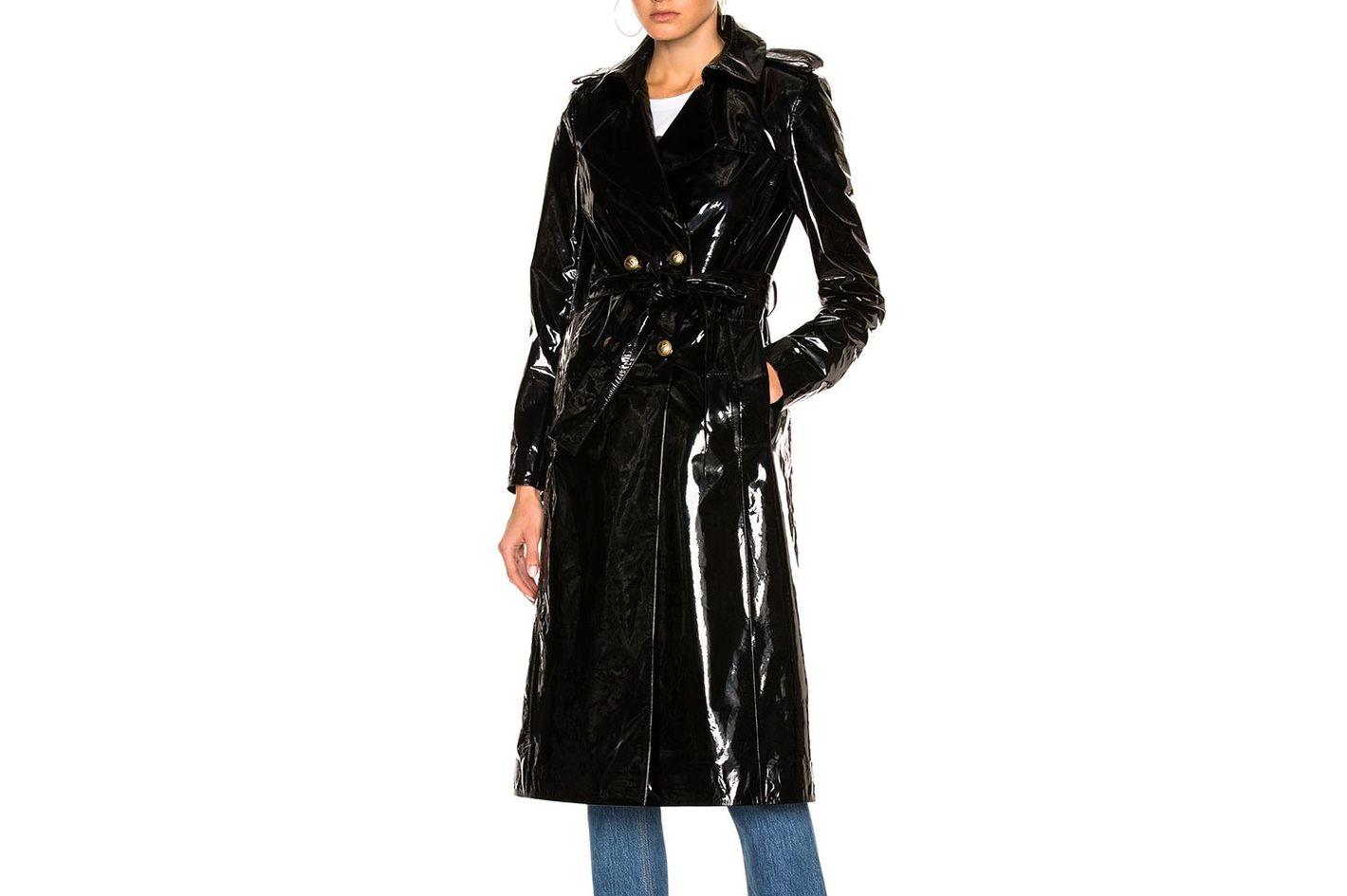 Zeynep Arcay Patent Leather Trench