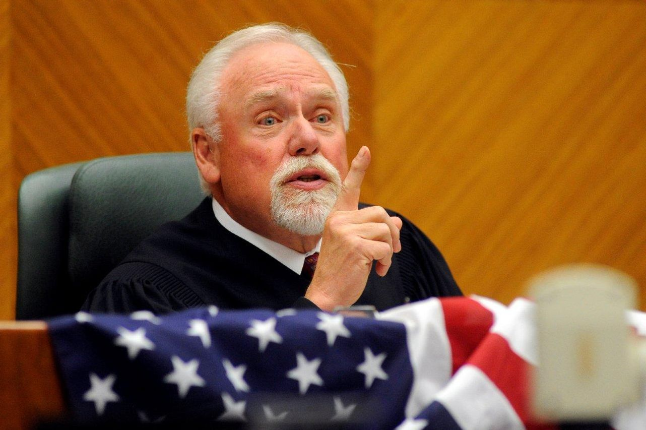 Chief Judge Richard F. Cebull makes a speech during a Naturalization Ceremony at the James F. Battin Federal Courthouse on June 23, 2011.  Cebull is under fire for a racist email he forwarded to six friends from his work computer. The joke he forwarded questioned the parentage of President Barack Obama, indicating his mother was so drunk at the time of conception, that Obama is fortunate his father was not a dog.