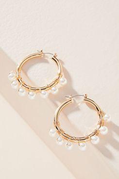 Anthropologie Romy Huggie Hoop Earrings
